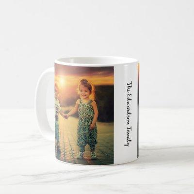 Create your own family photo monogrammed coffee mug
