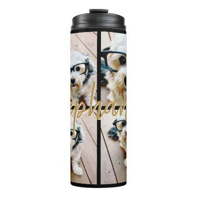 Create Your Own Instagram 4 Photo Collage Thermal Tumbler