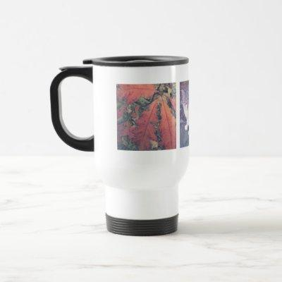 Create your own Instagram photo collage travel mug