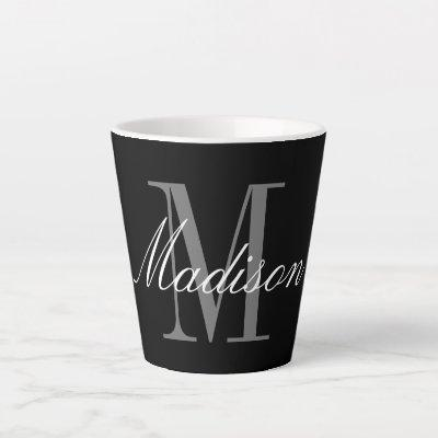 Create Your Own Monogram Initial Name Latte Mug