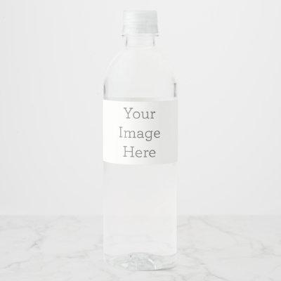 "Create Your Own Water Bottle Label (8"" x 2.125"")"
