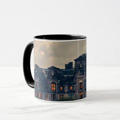 Creepy Haunted Mansion Photo Mug