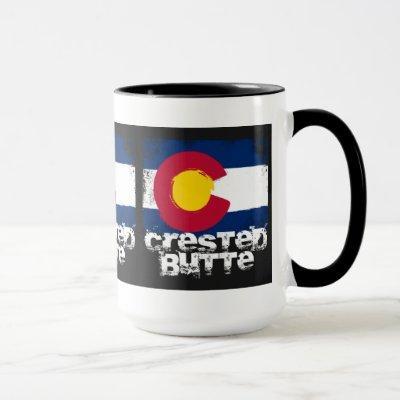Crested Butte Grunge Flag Mug