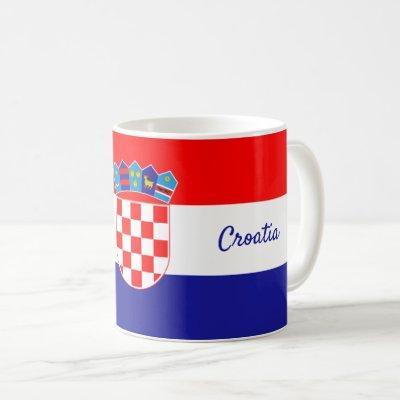 Croatian Flag with Red & White Checkers Coffee Mug