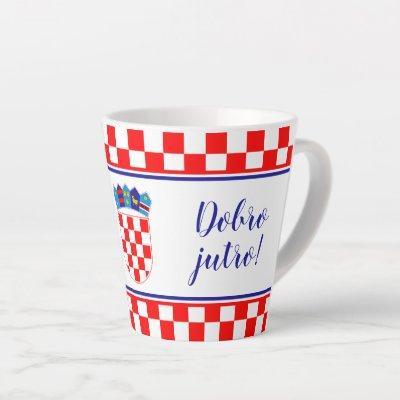 Croatian Good Morning Dobro Jutro Latte Mug