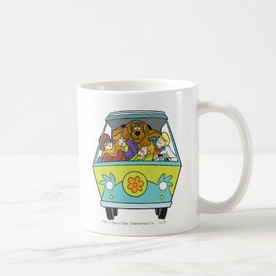 Crowded In The Mystery Machine Coffee Mug