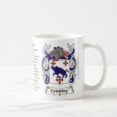 Crowley, Origin, Meaning and the Crest Coffee Mug
