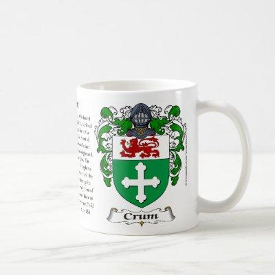 Crum, the Origin, the Meaning and the Crest Mug