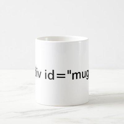 """CSS <div id=""""mug""""> Coffee Mug"""