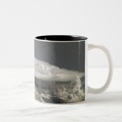 Cumulonimbus Cloud Over Africa Two-Tone Coffee Mug