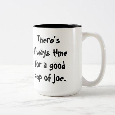 """cup of joe"" coffee mug"