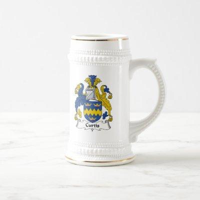 Curtis Family Crest Beer Stein