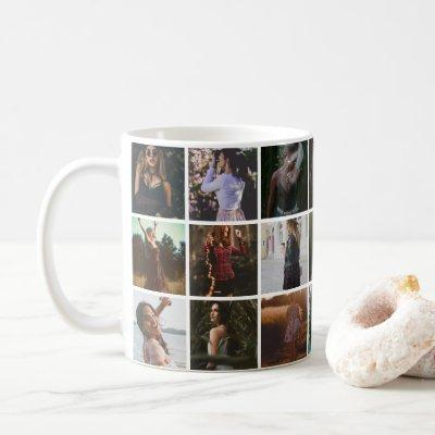 Custom 21 Photo Collage Personalized Coffee Mug