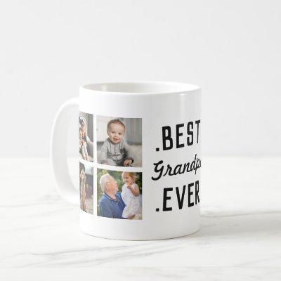 Custom Best Grandpa Ever Photo Mug