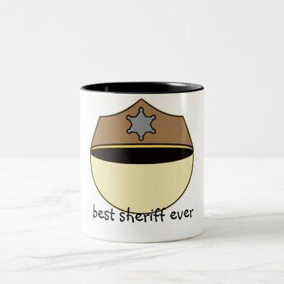 Custom Best Sheriff Ever Two-Tone Coffee Mug