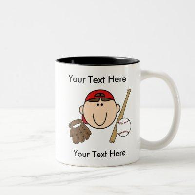 Custom Boy Baseball Mug - Customizable