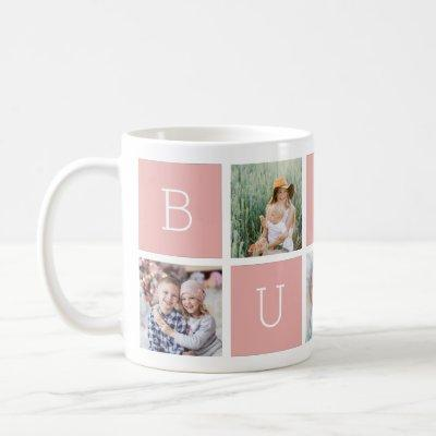 Custom Bubbe Grandmother 5 Photo Collage Coffee Mug