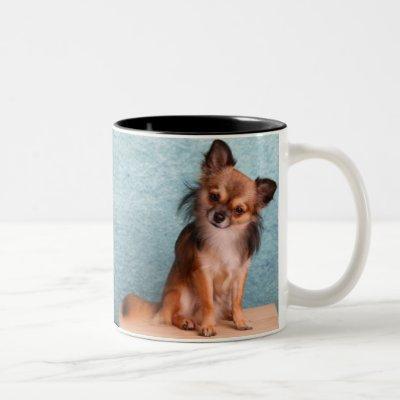 Custom Chihuahua Dog Photo Two-Tone Coffee Mug