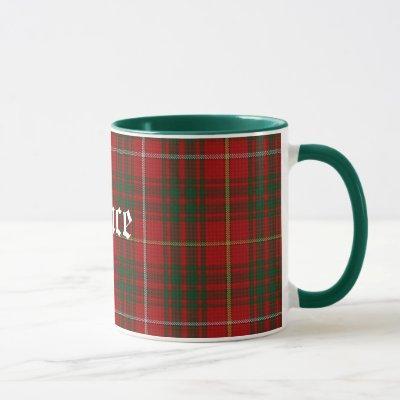 Custom Classic Clan Bruce Tartan Plaid Mug
