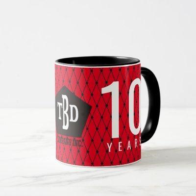 Custom color milestone employee anniversary gift mug