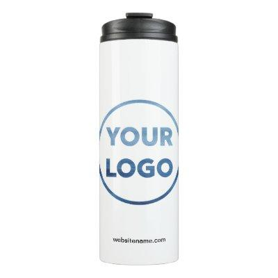 Custom Company Logo and Business Website Thermal Tumbler