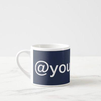 Custom Company Social Media Promotional Blue Espresso Cup
