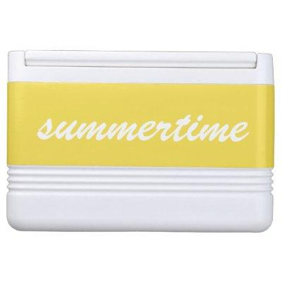 Custom Cooler Personalized Text Yellow
