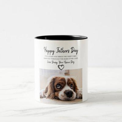 Custom Dog Photo Father's Day Mug From Rescue Dog