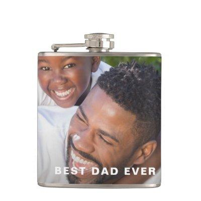 Custom Father's Day Photo Flask