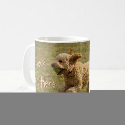 Custom Golden Doodle Dog Photo Coffee Mug
