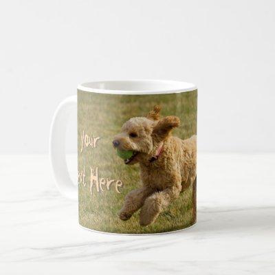 Custom Golden Doodle Dog Photo Coffee Mug
