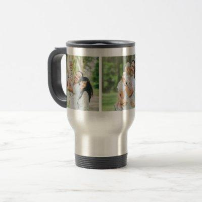 Custom Instagram 3 Photo Personalized Travel Mug