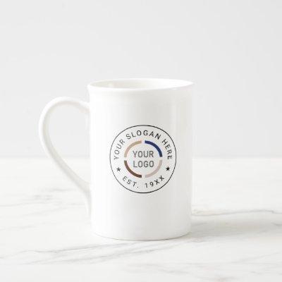Custom Logo branded promotional Bone China Mug