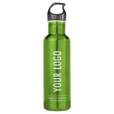 Custom Logo Water Bottle with Handle Green 24 oz