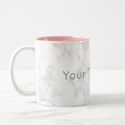 Custom Marble Coffee Mug -Pink