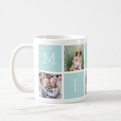 Custom Mimi Grandmother 5 Photo Collage Coffee Mug