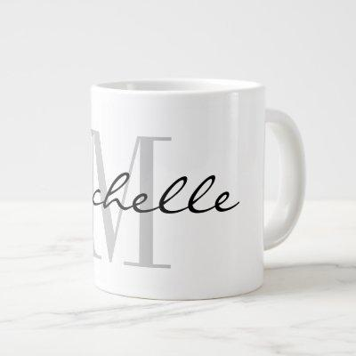 Custom monogram big large giant jumbo mug gift