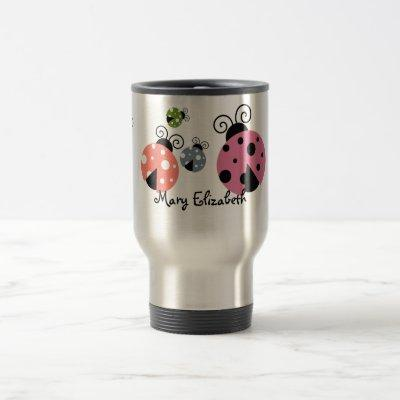 Custom Name Ladybug Coffee mug