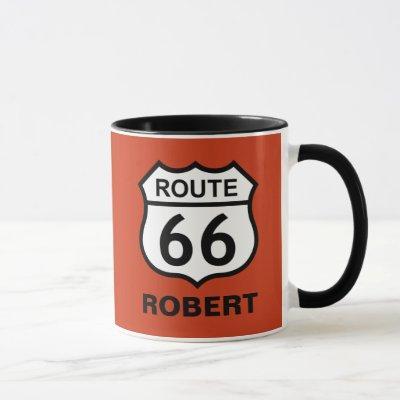 Custom Name Route 66 Sign Personalized Coffee Mug