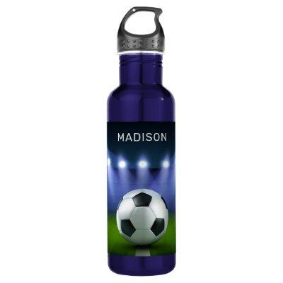 Custom name Soccer Stadium water bottles