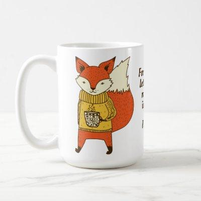 Custom name & text Fox Sake mugs