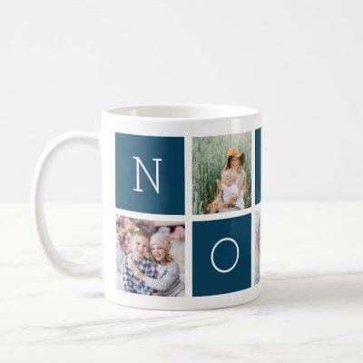 Custom Nonno Grandfather 5 Photo Collage Coffee Mug