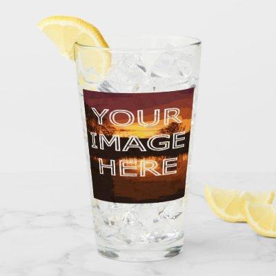 Custom Personalized Photo Pint Glass