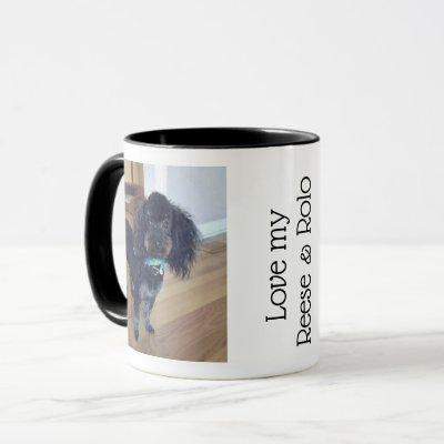 Custom Pet Photo Black White Coffee Mug