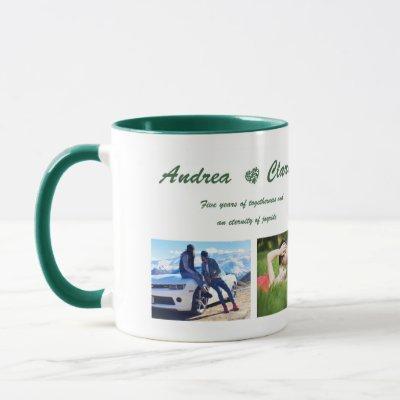 Custom photo and text mug, Personalized photo mug