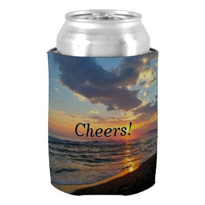 Custom Photo and Text Personalized Can Cooler