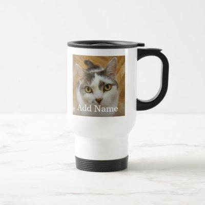 Custom Photo and Text Personalized Travel Mug