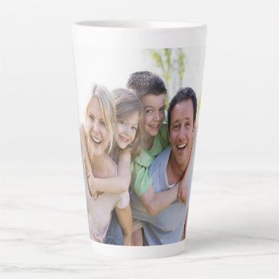 Custom Photo Latte Mug