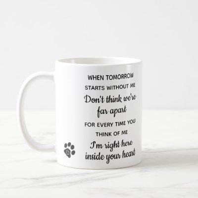 Custom Photo Pet Loss Keepsake Pet Dog Memorial Coffee Mug