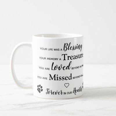 Custom Photo Pet Loss Keepsake Pet Memorial Coffee Mug